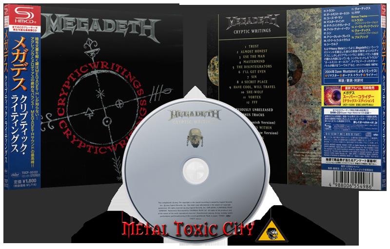 Megadeth (USA) • Cryptic Writings (1997) [Japanese Edition - SHM-CD